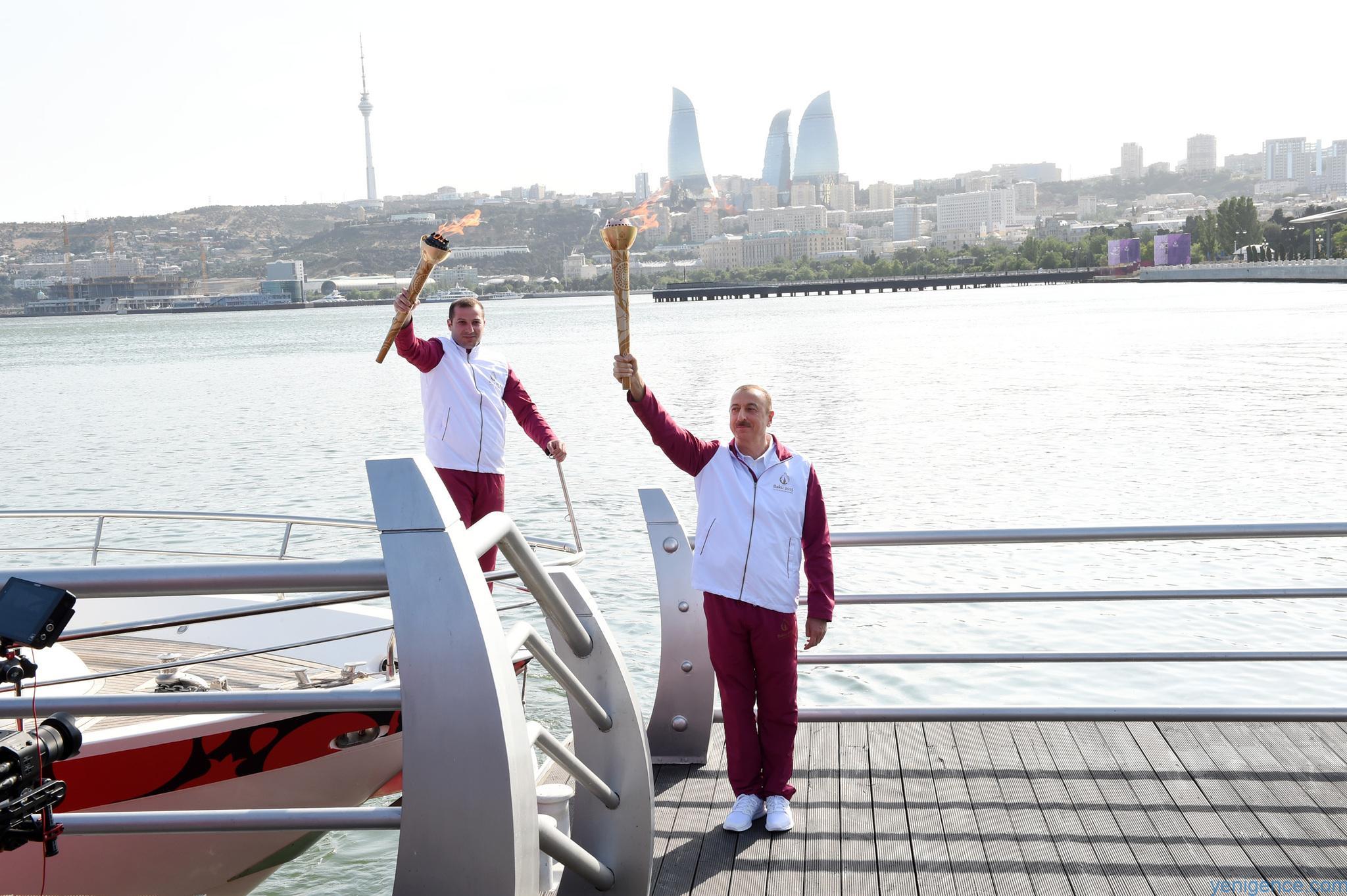 Image result for İlham Əliyev idman məşəli